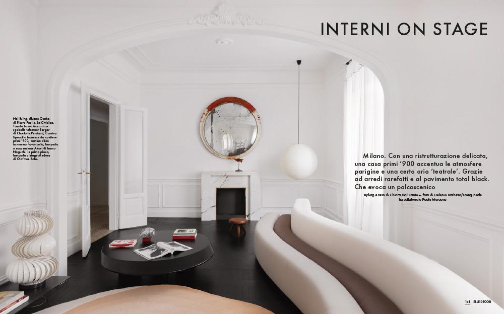 ELLE DECOR ITALIA, DETTAGLI PRIVATI, INTERNI ON STAGE, DEC-JAN 2021